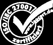 Logo der ISO7IEC 27001 Zertifizierung