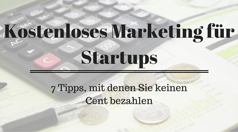 Kostenloses Marketing für Startups
